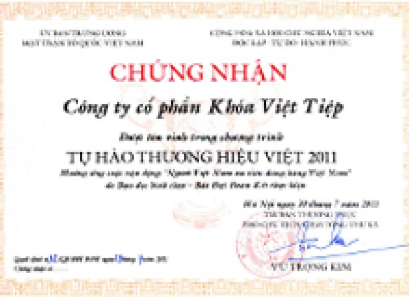 Tự hào thương hiệu Việt 2011