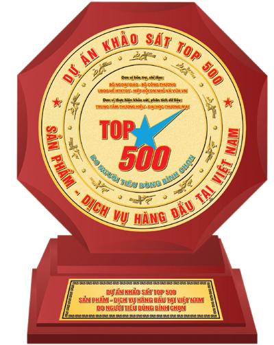Top 500 sản phẩm dịch vụ hàng đầu việt nam