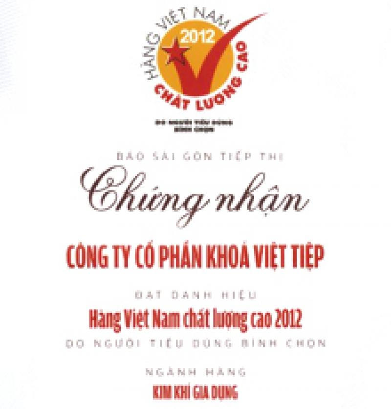 Hàng Việt Nam chất lượng cao 2012
